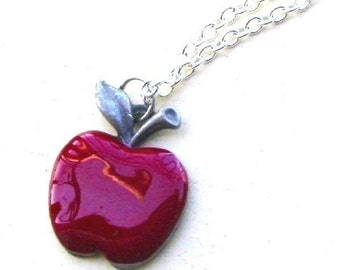 Vintage Apple Charm Necklace