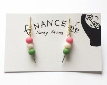 Dango on a Stick Earrings