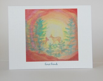 Forest Friends, note cards