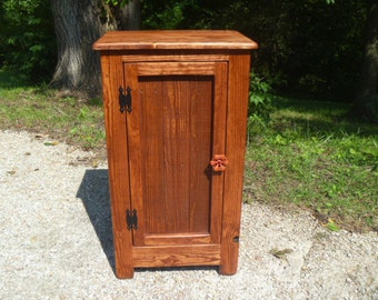 Rustic Pallet Cabinet With Wood Door And Faucet Handle, Rustic Nightstand,  End Table,