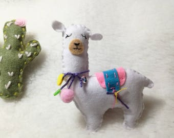 Llama Ornament Animal Blade felt cactus