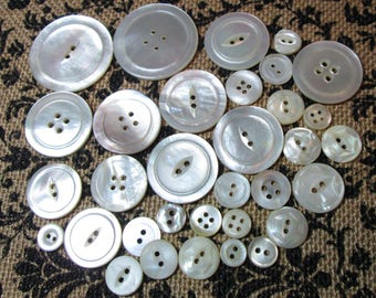 Vintage Mother of Pearl Buttons Lot