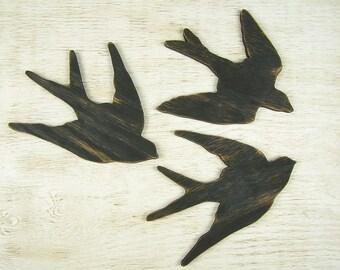 Swallow Wall Art Flying Bird Wall Art Swallow Bird Decor Wooden Bird Wall Decor Wood Bird Sign Bird Nursery Decor Bird Decoration Nature Art