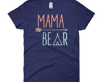 Mom Shirt, Shirt for Mom, Mama Bear Shirt, Mama Shirt, Cute Mom Tshirt, Cute Matching Shirts, Gift for Mother, Bday Gift For Mom, Mom TShirt