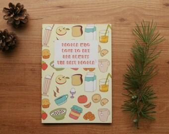 Breakfast notebook