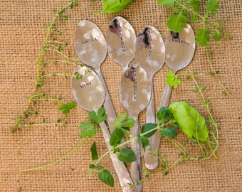 Set of 6 Spoon Herb/Vegetable Markers