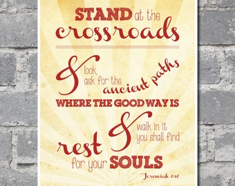 Jeremiah 6:16 Bible Verse (8x10) DIGITAL FILE