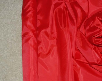 Poly Lining fabric 58 inches wide..Red     . used for lining  jackets, skirts, dresses. vests, soft, light weight