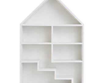 READY TO SHIP! White Wooden Dolls House