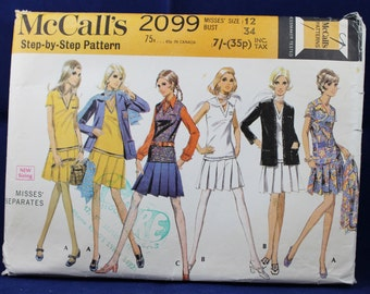 1960's Top, Skirt & Jacket in Size 12 - McCall's 2099