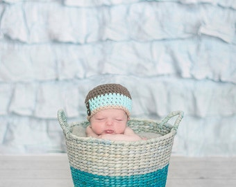 newborn boy hat, newborn hat,  baby boy hat, newborn boys hat, baby shower gift, crochet boys hat, baby boy hat,baby hat, crochet baby hat