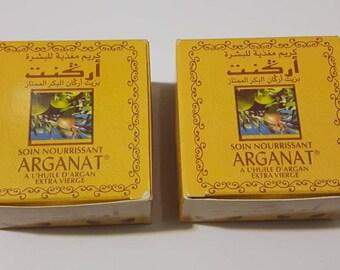 soin nourrissant alhuile d'argan Arganat facial creme moisturizer anti aging with argan oil 2 x 100 mL