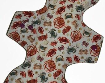 Heavy Core- Crabs Reusable Cloth Goddess Pad- WindPro Fleece 12.5 Inches (31.75 cm)
