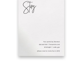 Modern Enclosure Card/Modern Wedding Invitation Suite/Wedding Invites/Invitation Suites/Script/White/Clean/Simple/Black/Bold/Unique/Luxury