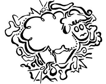 Sheep Print, Sheep Illustration, Sheep Art, Nursery Art, Nursery Decor, Nursery Print, Home Decor, Sheep Clipart, Sheep Vector, Sheep Decor