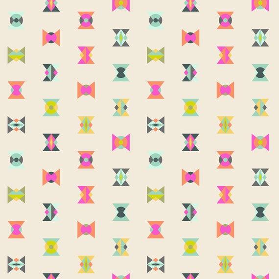 "FQ ARROW HEADS Electric Sky Spirit Animal  Tula Pink Fat Quarter 18""x22"""