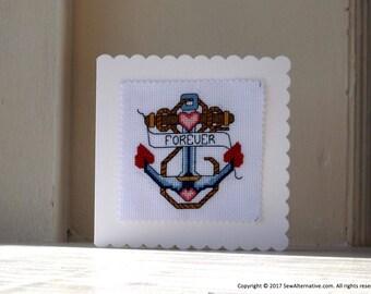 Pretty Anchor Cross Stitch Pattern