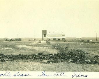 Humble Lease 1928 Truscott Texas Ranch Farm House Barn 1920s TX Vintage Black and White Photo Photograph
