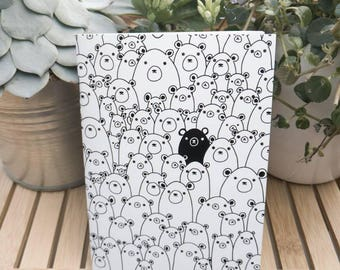 Cute Bears A6 NoteBook