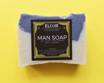Soap - Man Soap - Vegan Soap - Bergamot Soap - Handmade Soap - Gifts for Him - Bath Soap - Soap Gift - Bar Soap - Soap Bars - Soaps