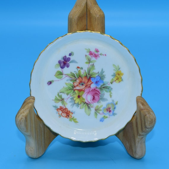 Minton Marlow Coaster Vintage Spring Flowers Trinket Dish Wedding Decor Gift for Her Mothers Day Gift Bridesmaid Gift Easter Coaster