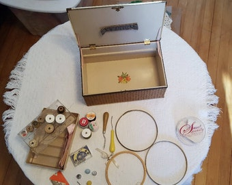 Vintage Sewing Box with all contents