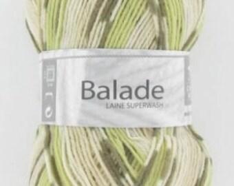 Sock - yarn knitting color khaki/beige No. 509 white horse ride