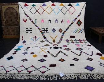 Oversized Moroccan rug 9.8ft x 14.1ft Handmade Beni ourain rug berber teppish oriental rugs handmade rug Living room carpet