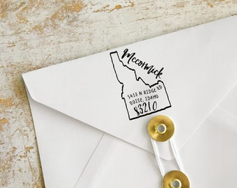 Idaho Address Stamp, Custom Idaho Return Address Stamp, State Stamps
