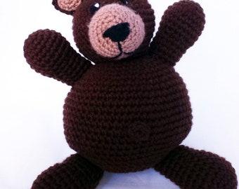Brown Bear Stuffed Animal - Teddy Bear - Grizzly Bear - Black Bear - Machine Washable - Plush Toy - Baby Shower Gift - Newborn - Unisex