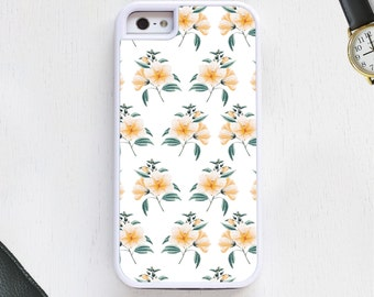 Tropical Hawaiian Floral & leafs cute girly pink Cell Phone Case protective bumper cover iPhone6 iPhone7 Android s5 s6 s7 note4 note147