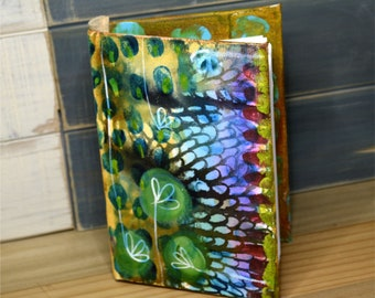 In the Garden of Romeo and Juliet - artist painted and bound mixed media art journal