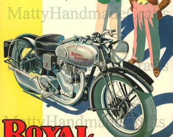 Silver Bullet, Royal Enfield, Motorcycle, 1930s Advertising Print