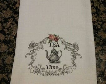 Tea Time Flour Sack Towel