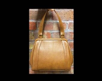 Vintage original 60s 60's sixties mod faux leather vegan handbag bag purse great condition