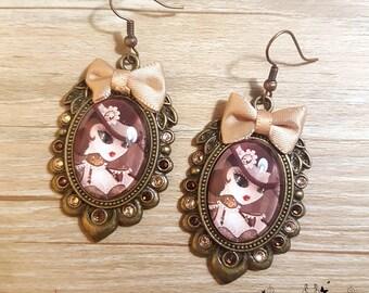 Handmade Steam T earrings // Steampunk fanart