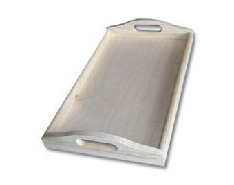 Wooden Serving Tray 39.5cmx24cmx 6.3cm