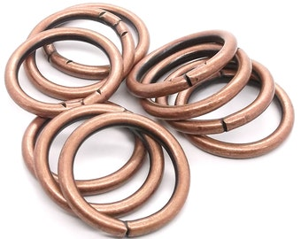 """Ring Smooth Antique Copper 10 Pack 1-1/4"""" (3.2 cm) 1824-10"""