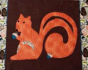 """Woodland Animal Quilt Block Pattern """"Squirrel"""""""