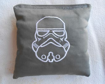 Embroidered Grey Storm Trooper Corn hole Bags