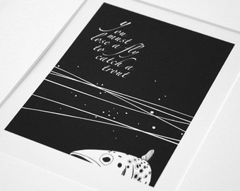 To catch a trout -  trout & fly fishing, black and white print