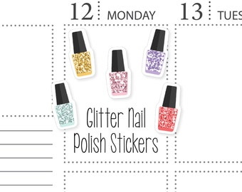Glitter Nail Polish Stickers