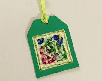 Floral Letter gift tag