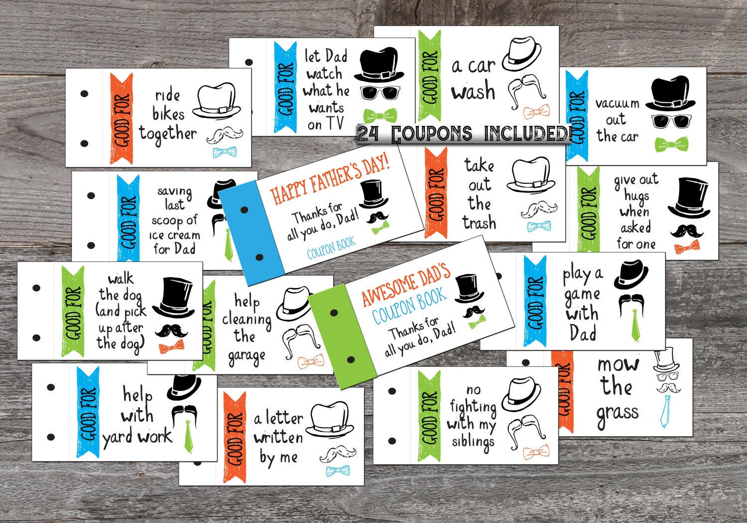 Stocking Stuffer Coupon Book for Dad Love coupons