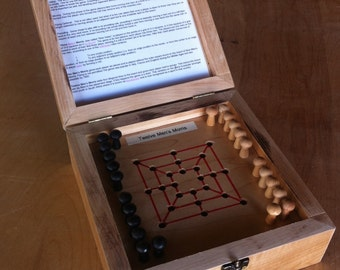 Nine Mens Morris and variations, 4 peg games in one box