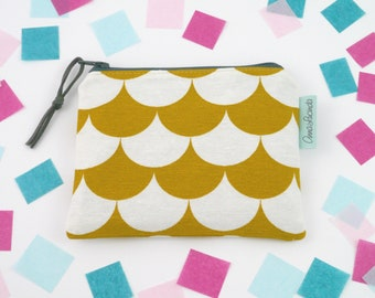 Small zipper wallet Purse wallet Coin purse for women Tea bag zip bag Tampon holder Sanitary pad pouch Yellow mustard accessory pouch Gift