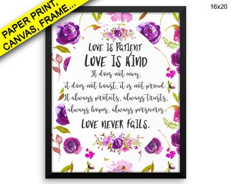 Is Patient Is Kind Canvas Art Is Patient Is Kind Printed Is Patient Is Kind Framed Art Is Patient Printed Poster Is Patient Is Kind Love