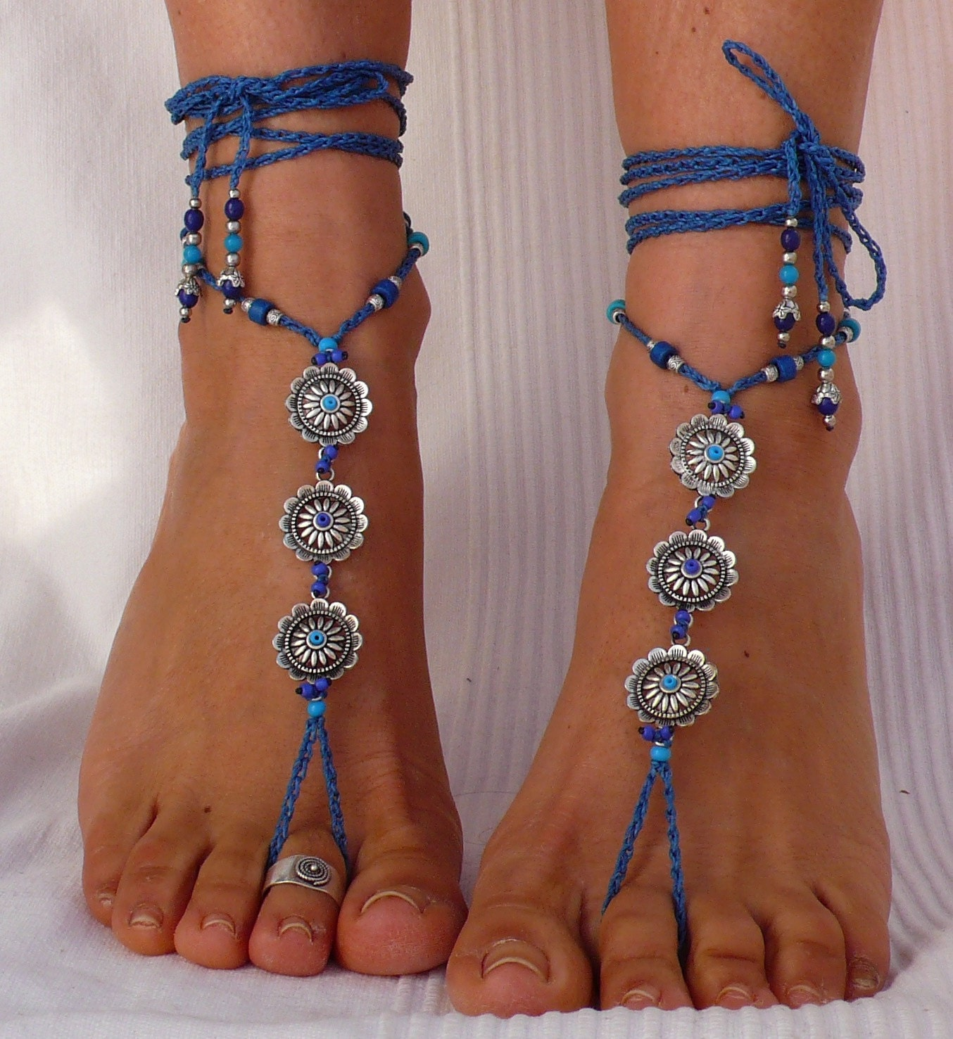 blue for jewelry il zoom ribbon wedding fullxfull i anklet do something listing