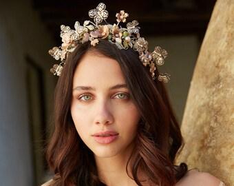 La Bell Epoque Bohemian butterfly bridal crown - no. 2256