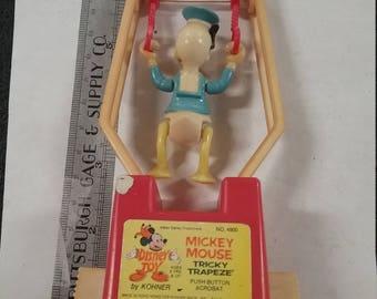 Vintage  mickey mouse tricky trapeze childs toy